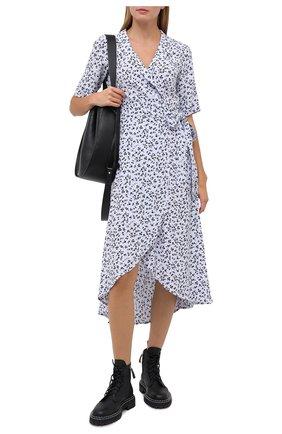 Женское платье из вискозы GANNI голубого цвета, арт. F4993 | Фото 2