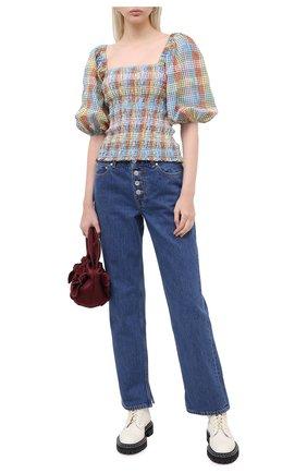 Женские джинсы GANNI синего цвета, арт. F4995 | Фото 2