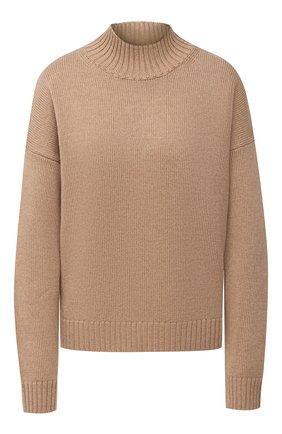 Женская шерстяной пуловер GANNI бежевого цвета, арт. K1371 | Фото 1