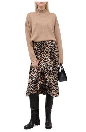 Женская шерстяной пуловер GANNI бежевого цвета, арт. K1371 | Фото 2