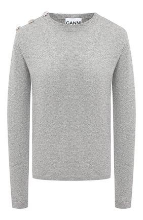 Женская кашемировый пуловер GANNI серого цвета, арт. K1381 | Фото 1