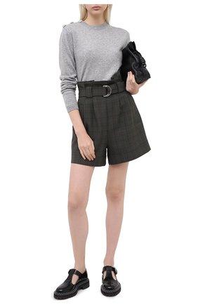 Женская кашемировый пуловер GANNI серого цвета, арт. K1381 | Фото 2