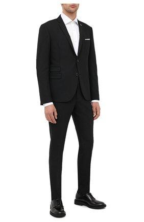 Мужской костюм NEIL BARRETT черного цвета, арт. PBAB49V/P032 | Фото 1