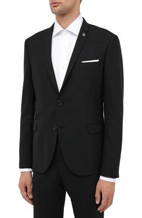 Мужской костюм NEIL BARRETT черного цвета, арт. PBAB49V/P032 | Фото 2