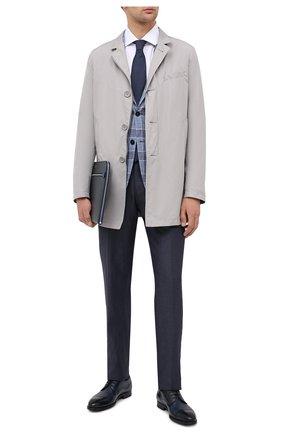 Мужской кожаные дерби MAGNANNI темно-синего цвета, арт. 21189/WIND | Фото 2