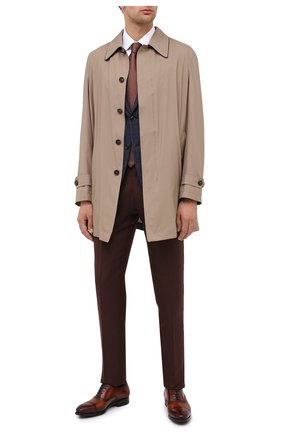 Мужские кожаные оксфорды MAGNANNI светло-коричневого цвета, арт. 21228/WIND | Фото 2