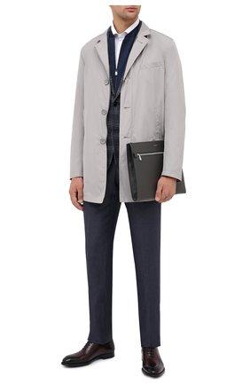 Мужские кожаные оксфорды MAGNANNI бордового цвета, арт. 22346/WIND | Фото 2