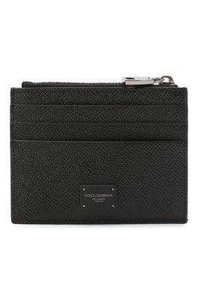 Мужской кожаный футляр для кредитных карт DOLCE & GABBANA черного цвета, арт. BP2266/AZ602 | Фото 1