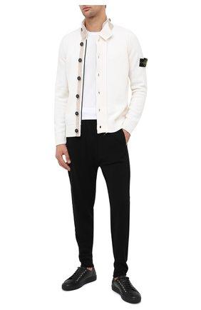 Мужская шерстяной кардиган STONE ISLAND белого цвета, арт. 7315564A3 | Фото 2