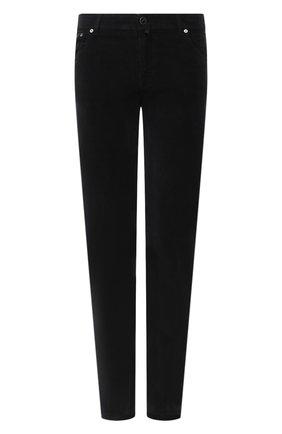 Мужские брюки из хлопка и шерсти KITON черного цвета, арт. UPNJSJ02T40   Фото 1