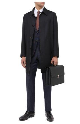 Мужской кожаные дерби KITON черного цвета, арт. USSDECHN00100 | Фото 2