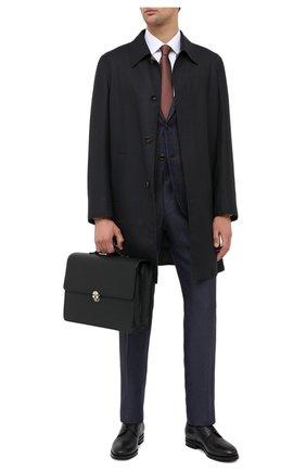 Мужской кожаный портфель KITON черного цвета, арт. UBNYSEN00815   Фото 2
