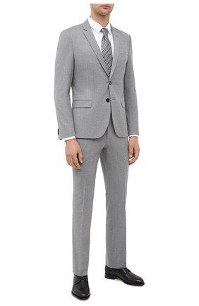 Мужской шерстяной костюм HUGO серого цвета, арт. 50446037 | Фото 1