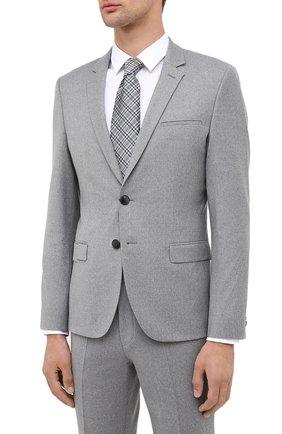 Мужской шерстяной костюм HUGO серого цвета, арт. 50446037 | Фото 2