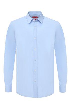 Мужская хлопковая сорочка HUGO голубого цвета, арт. 50425897 | Фото 1
