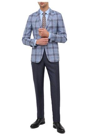 Мужская хлопковая сорочка HUGO голубого цвета, арт. 50425897 | Фото 2
