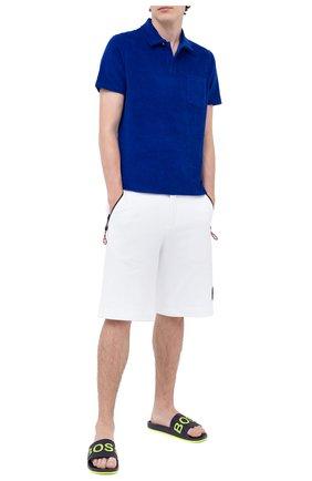 Мужские шлепанцы BOSS синего цвета, арт. 50432591 | Фото 2