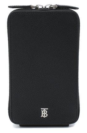 Мужского кожаный чехол для iphone BURBERRY черного цвета, арт. 8028232 | Фото 1