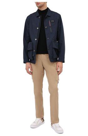 Мужская куртка BURBERRY темно-синего цвета, арт. 8028656 | Фото 2