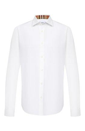 Мужская хлопковая рубашка BURBERRY белого цвета, арт. 8032308 | Фото 1