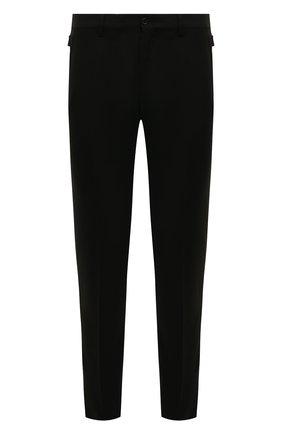 Мужской шерстяные брюки DOLCE & GABBANA черного цвета, арт. GY6IET/FUBFA | Фото 1
