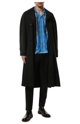 Мужской шерстяные брюки DOLCE & GABBANA черного цвета, арт. GY6IET/FUBFA | Фото 2