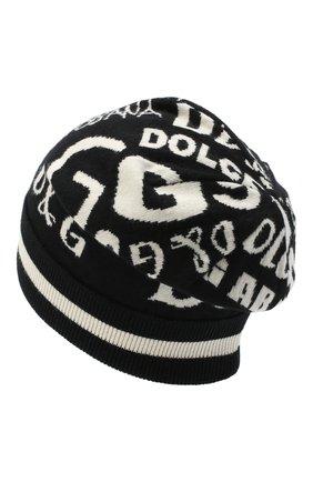 Мужская кашемировая шапка DOLCE & GABBANA черно-белого цвета, арт. GXB84T/JAW2U | Фото 2