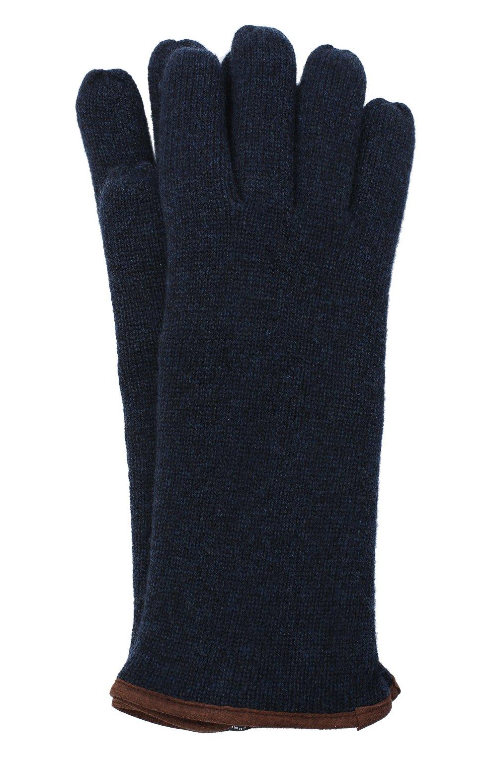 Мужские кашемировые перчатки SVEVO темно-синего цвета, арт. 0158USA20/MP01/2 | Фото 1