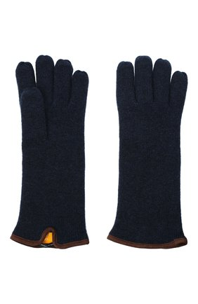 Мужские кашемировые перчатки SVEVO темно-синего цвета, арт. 0158USA20/MP01/2 | Фото 2