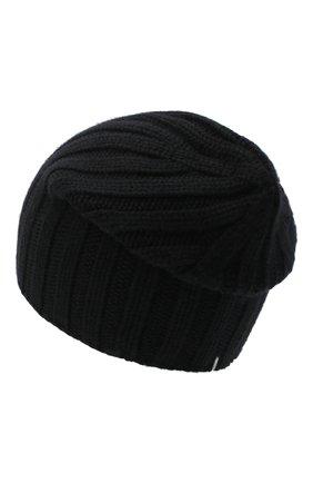 Мужская кашемировая шапка FIORONI черного цвета, арт. MK10I1042 | Фото 2