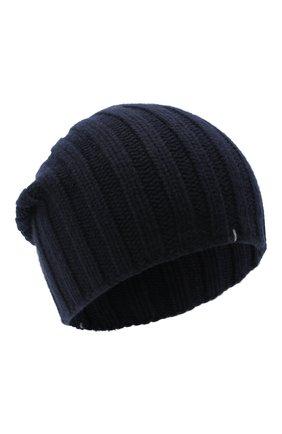 Мужская кашемировая шапка FIORONI темно-синего цвета, арт. MK10I1042 | Фото 1
