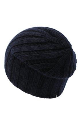 Мужская кашемировая шапка FIORONI темно-синего цвета, арт. MK10I1042 | Фото 2