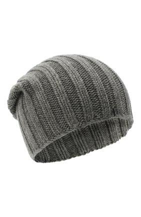 Мужская кашемировая шапка FIORONI темно-серого цвета, арт. MK10I1042 | Фото 1
