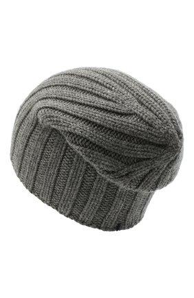 Мужская кашемировая шапка FIORONI темно-серого цвета, арт. MK10I1042 | Фото 2