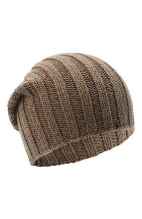 Мужская кашемировая шапка FIORONI темно-бежевого цвета, арт. MK10I1042 | Фото 1
