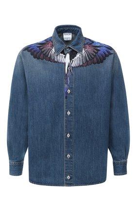 Мужская джинсовая рубашка MARCELO BURLON голубого цвета, арт. CMYD011F20DEN001 | Фото 1