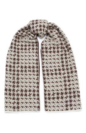 Мужской шарф из шерсти и кашемира KITON коричневого цвета, арт. USCIACX02T27 | Фото 1