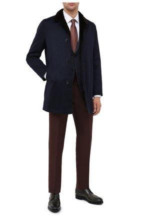 Мужской кашемировое пальто с меховой подкладкой KITON темно-синего цвета, арт. UW0480MV03R70 | Фото 2
