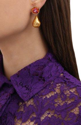 Женские серьги valentino garavani vlogo VALENTINO оранжевого цвета, арт. UW2J0G22/HSH | Фото 2