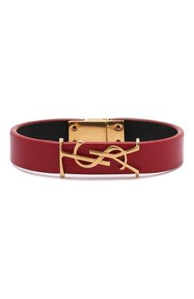 Женский кожаный браслет SAINT LAURENT красного цвета, арт. 559355/BL40J | Фото 1