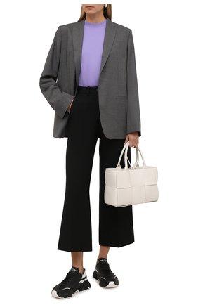 Женские кожаные кроссовки daymaster DOLCE & GABBANA черного цвета, арт. CK1791/AX589 | Фото 2 (Подошва: Платформа; Материал внутренний: Натуральная кожа)