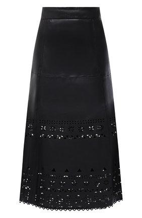 Женская кожаная юбка POLO RALPH LAUREN черного цвета, арт. 211800762 | Фото 1