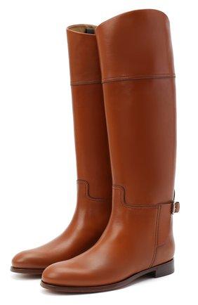 Женские кожаные сапоги sallen RALPH LAUREN коричневого цвета, арт. 800692177   Фото 1