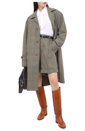 Женские кожаные сапоги sallen RALPH LAUREN коричневого цвета, арт. 800692177   Фото 2