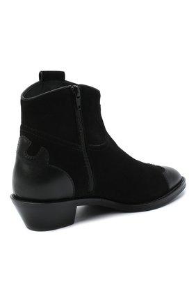 Женские кожаные ботинки western SEE BY CHLOÉ черного цвета, арт. SB35041A/12080 | Фото 4