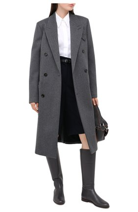 Женские кожаные сапоги welly LORO PIANA темно-серого цвета, арт. FAI2329 | Фото 2