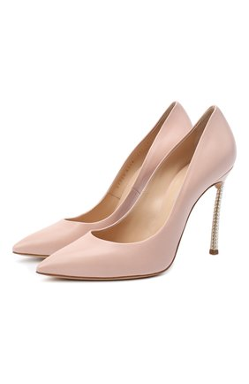 Женская кожаные туфли blade pearls CASADEI розового цвета, арт. 1F168E100DPEMIN4105 | Фото 1