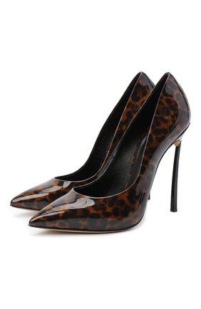Женская кожаные туфли jolly blade CASADEI коричневого цвета, арт. 1F410D125TJUNGL7701 | Фото 1