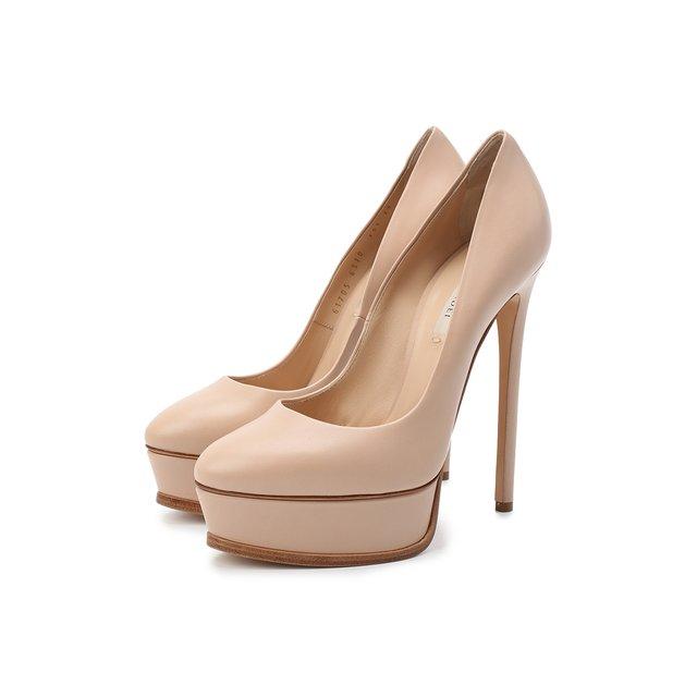 Кожаные туфли Flora Casadei