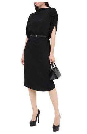 Женская кожаные туфли flora CASADEI черного цвета, арт. 1F436K1401MIN0R9000 | Фото 2
